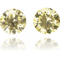 Natural Yellow Diamond Round 0.45 ct Set