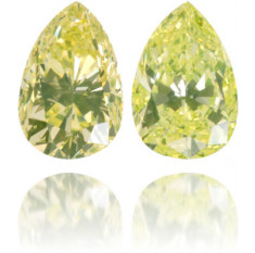 Natural Yellow Diamond Pear Shape 0.59 ct Set