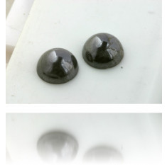 Natural Gray Diamond Cabochon 9.01 ct Polished