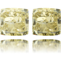 Natural Chameleon Diamond Square 1.50 ct Polished