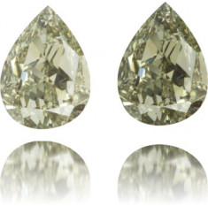 Natural Chameleon Diamond Pear Shape 0.74 ct Polished