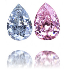 Natural Pink Diamond Pear Shape 2.03 ct Set