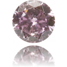 Natural Purple Diamond Round 0.11 ct Polished