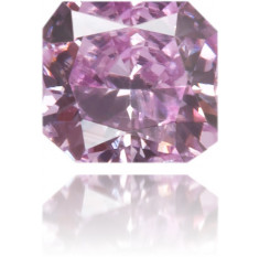 Natural Purple Diamond Square 0.11 ct Polished