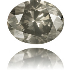 Natural Gray Diamond Oval 0.49 ct Polished