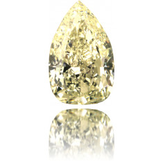 Natural Yellow Diamond Pear Shape 4.31 ct Polished