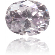 Natural Purple Diamond Oval 0.12 ct Polished
