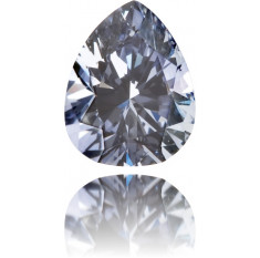 Natural Blue Diamond Pear Shape 0.15 ct Polished