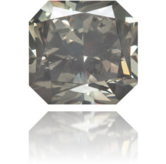 Natural Gray Diamond Square 0.80 ct Polished