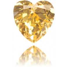 Natural Orange Diamond Heart Shape 0.15 ct Polished