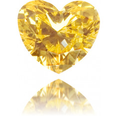 Natural Orange Diamond Heart Shape 0.14 ct Polished