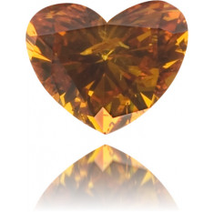 Natural Orange Diamond Heart Shape 0.11 ct Polished