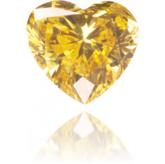 Natural Yellow Diamond Heart Shape 0.20 ct Polished