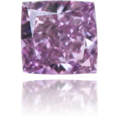 Natural Purple Diamond Square 0.13 ct Polished