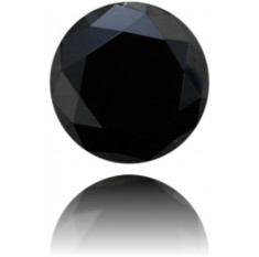 Natural Black Diamond Round 14.92 ct Polished