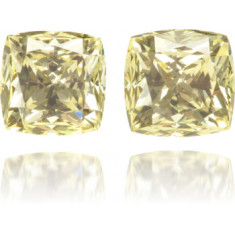 Natural Yellow Diamond Square 1.77 ct Set
