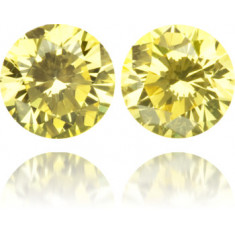 Natural Yellow Diamond Round 0.42 ct Set