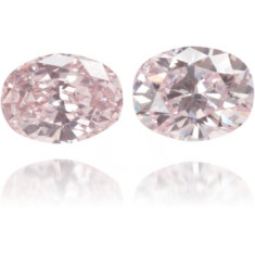 Natural Pink Diamond Oval 0.35 ct Set