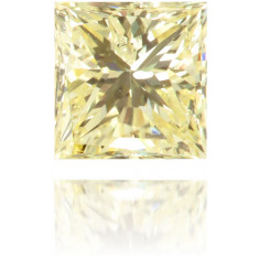 Natural Yellow Diamond Square 0.19 ct Polished