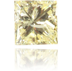 Natural Yellow Diamond Square 0.20 ct Polished