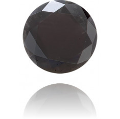 Natural Black Diamond Round 0.56 ct Polished