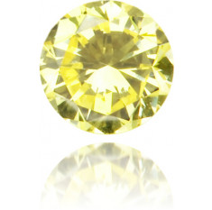 Natural Yellow Diamond Round 0.11 ct Polished