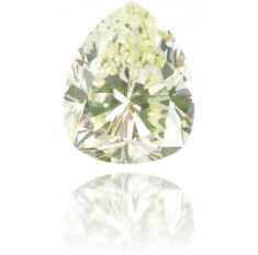 Natural Yellow Diamond Pear Shape 0.42 ct Polished