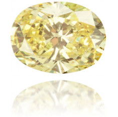 Natural Yellow Diamond Oval 0.40 ct Polished