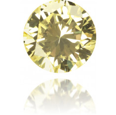 Natural Yellow Diamond Round 0.22 ct Polished