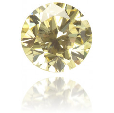 Natural Yellow Diamond Round 0.23 ct Polished