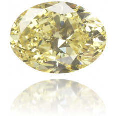 Natural Yellow Diamond Oval 0.41 ct Polished
