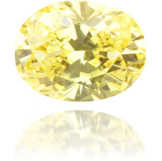 Natural Yellow Diamond Oval 0.19 ct Polished