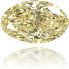 Natural Yellow Diamond Oval 0.43 ct Polished