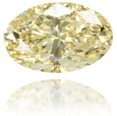 Natural Yellow Diamond Oval 0.44 ct Polished