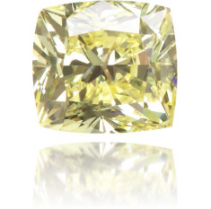 Natural Yellow Diamond Cushion 0.35 ct Polished