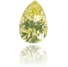 Natural Yellow Diamond Pear Shape 0.33 ct Polished
