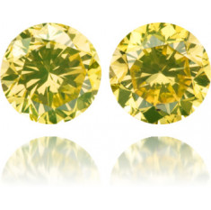 Natural Green Diamond Round 2.83 ct Set