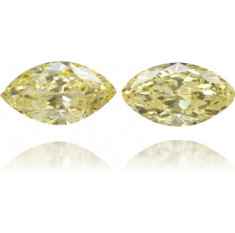 Natural Yellow Diamond Marquise 1.33 ct Set