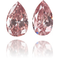 Natural Pink Diamond Pear Shape 0.40 ct Set