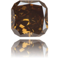 Natural Brown Diamond Square 4.24 ct Polished