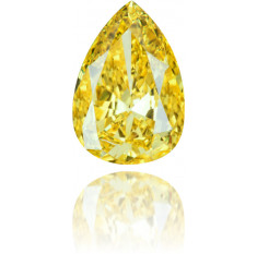 Natural Yellow Diamond Pear Shape 1.22 ct Polished