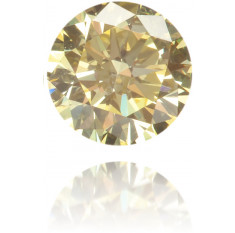 Natural Yellow Diamond Round 0.21 ct Polished