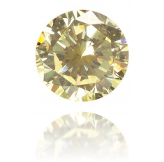 Natural Yellow Diamond Round 0.10 ct Polished