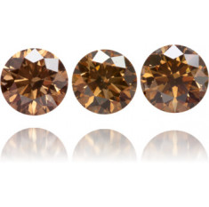Natural Brown Diamond Round 1.80 ct Set