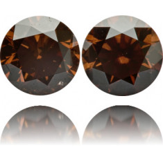 Natural Brown Diamond Round 4.08 ct Set