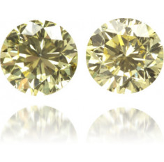 Natural Yellow Diamond Round 0.50 ct Set