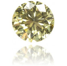 Natural Yellow Diamond Round 0.26 ct Polished