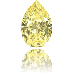 Natural Yellow Diamond Pear Shape 3.18 ct Polished