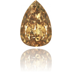 Natural Brown Diamond Pear Shape 0.48 ct Polished