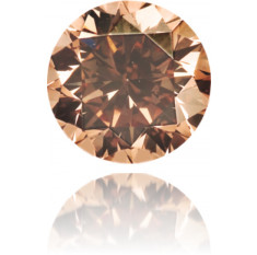 Natural Brown Diamond Round 0.51 ct Polished